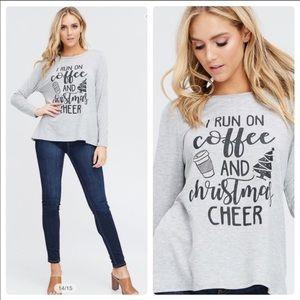 🆕🎄☕️NWT I RUN ON COFFEE AND CHRISTMAS CHEER
